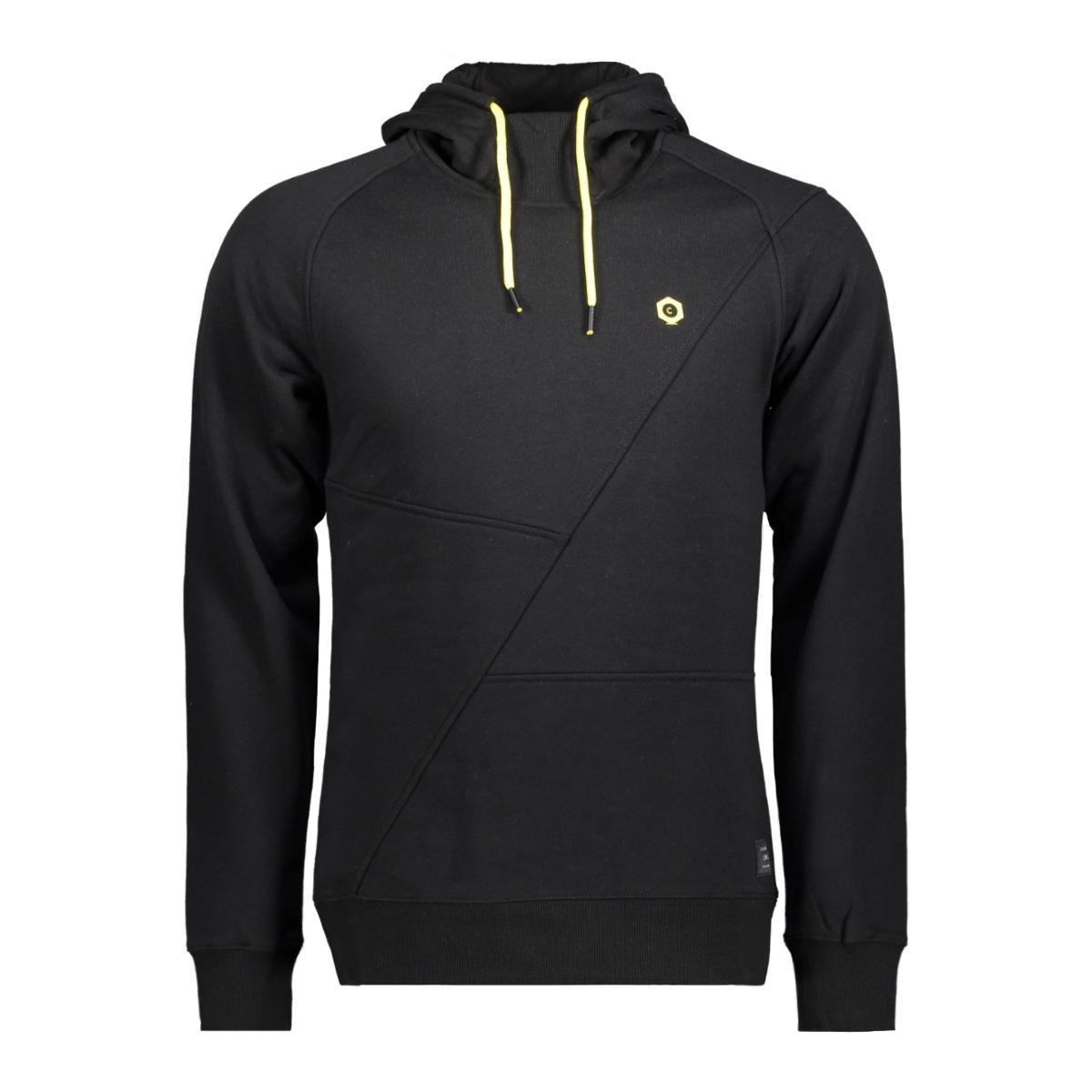jcopinn sweat hood noos 12116490 jack & jones sweater black/slim yello