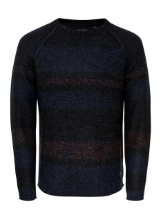 Only & Sons Trui onsOLLAN CREW NECK KNIT 22008062 Black
