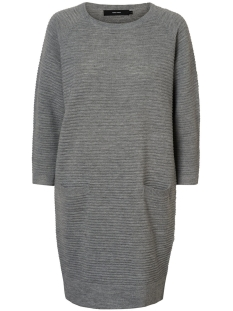 Vero Moda Jurk VMNATASCHA 7/8 DRESS 10175984 Light Grey Melange