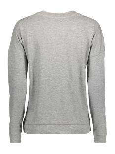 jdydonner l/s print sweat jrs 15139949 jacqueline de yong sweater light grey mela/sparkle de