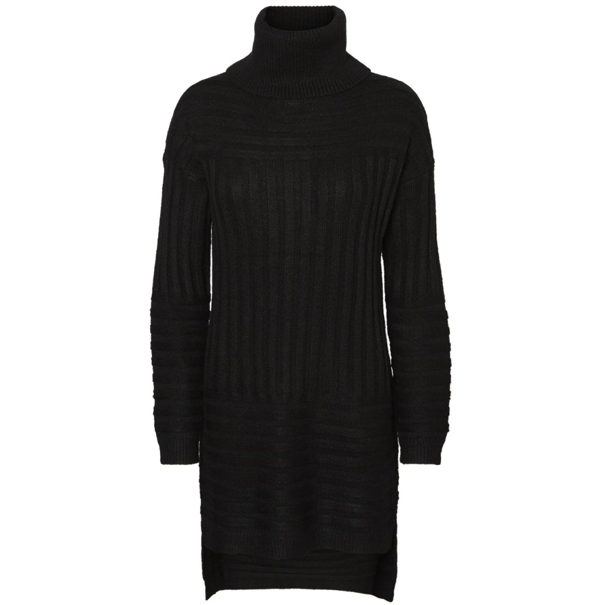 vmclearlake posh raven ls long roll 10183226 vero moda trui black