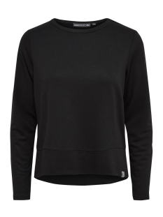 onpmegan glitter sweat 15139079 only play sport trui black