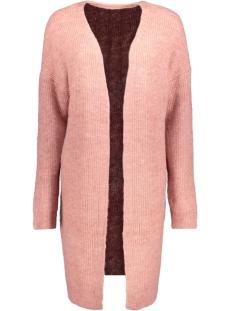 pcranda ls wool knit cardigan 17085346 pieces vest ash rose