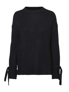 Vero Moda Trui VMCERSEI LS O-NECK TIE BLOUSE 10183109 Black Beauty