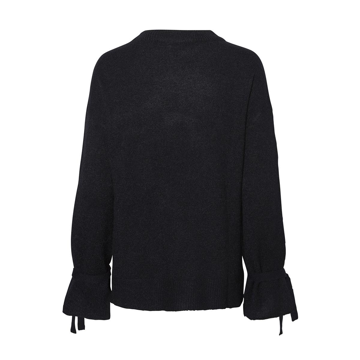vmcersei ls o-neck tie blouse 10183109 vero moda trui black beauty