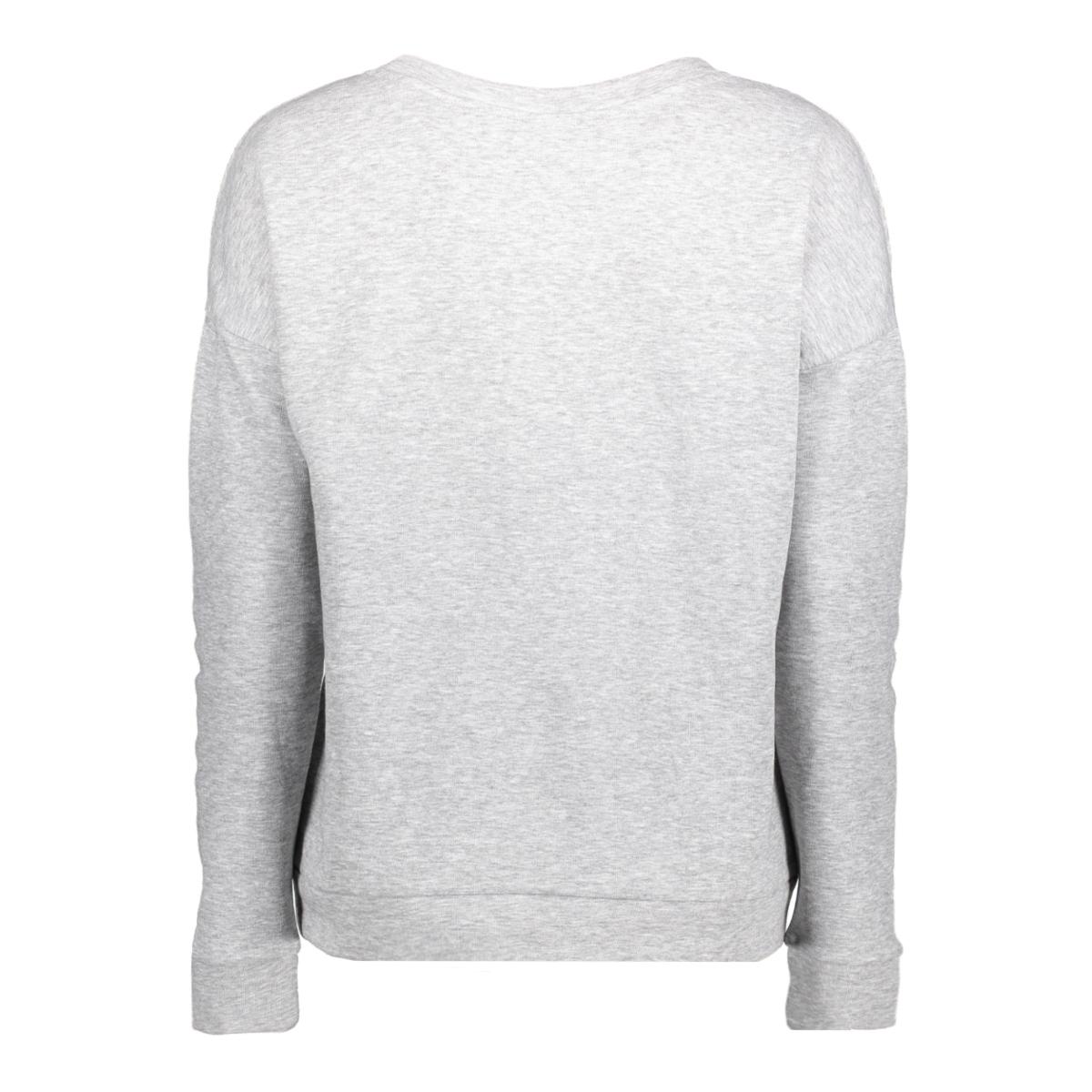 jdytori l/s print sweat 11 swt 15140959 jacqueline de yong sweater light grey mela/untranslat