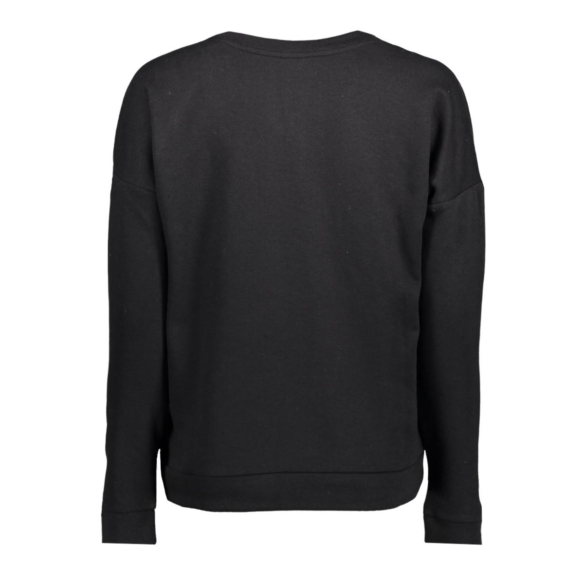 jdytori l/s print sweat 11 swt 15140959 jacqueline de yong sweater black/pure_chic