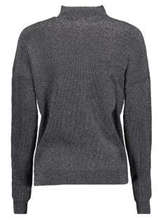 jdyjulia l/s highneck pullover knt 15138668 jacqueline de yong trui black/silver lur
