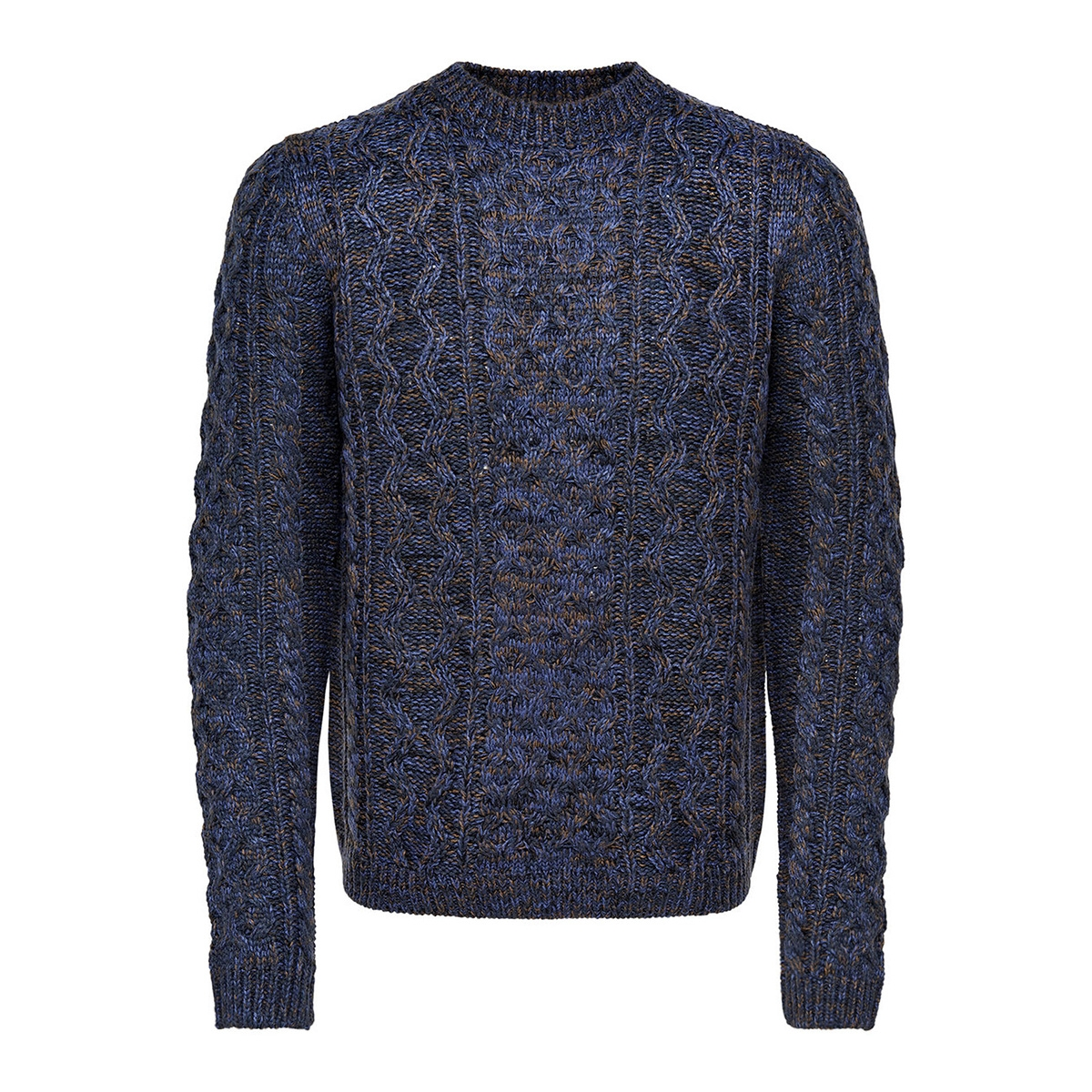 onsheath cable crew neck knit 22007784 only & sons trui dress blues