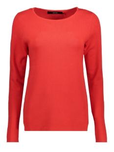 vmglory fullneedle ls blouse color 10192365 vero moda trui flame scarlet