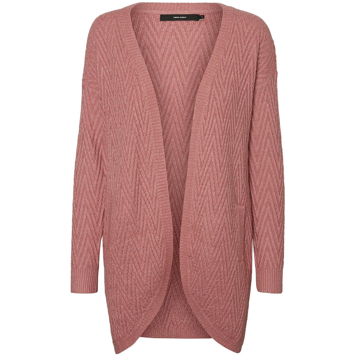 vmposh ls cardigan noos 10157988 vero moda vest mesa rose/melange