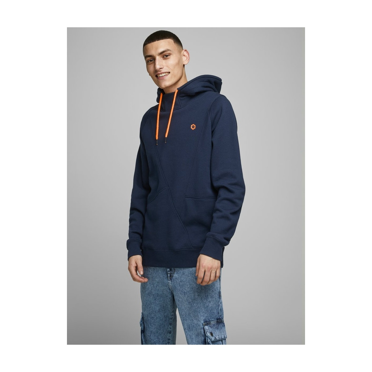 jcopinn sweat hood noos 12116490 jack & jones sweater navy blazer/reg