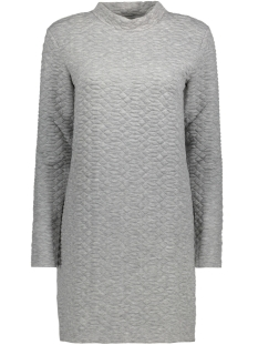 Jacqueline de Yong Jurk JDYSOUL HIGHNECK DRESS SWT 15140966 Light Grey Melange