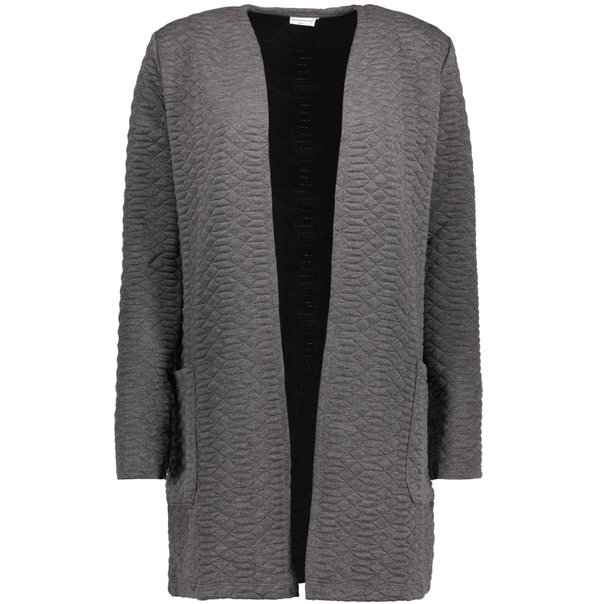 jdysoul l/s sweat cardigan swt 15140963 jacqueline de yong vest dark grey melange