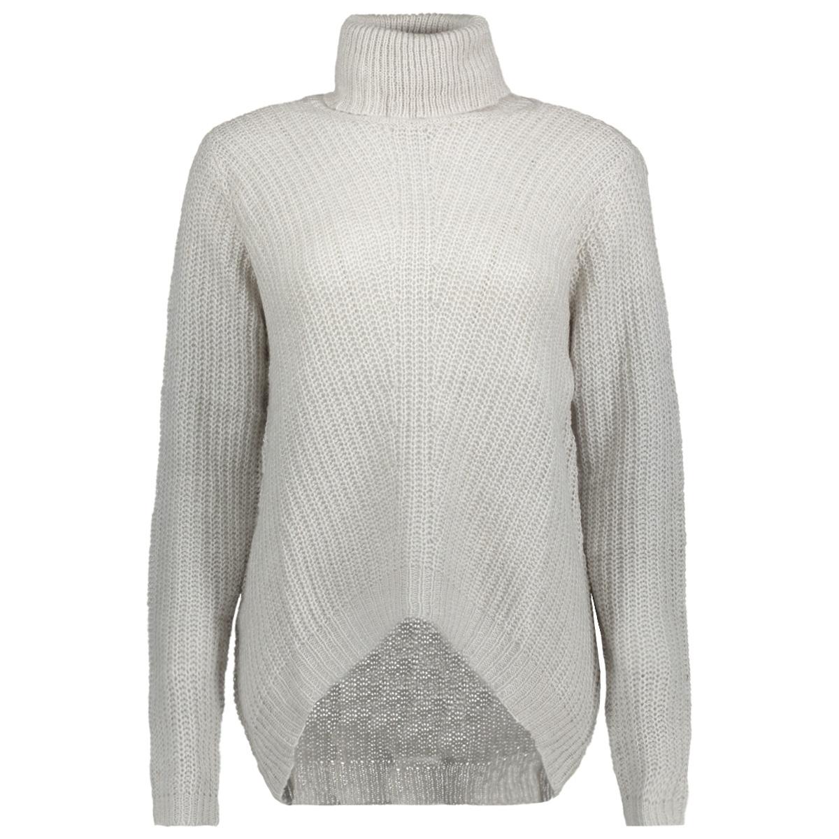jdysanna l/s highneck pullover knt 15141006 jacqueline de yong trui white melange
