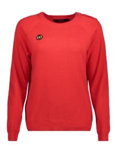 Vero Moda Sweater VMBLYTHE SVEA LS O-NECK BLOUSE 10182201 Flame Scarlet