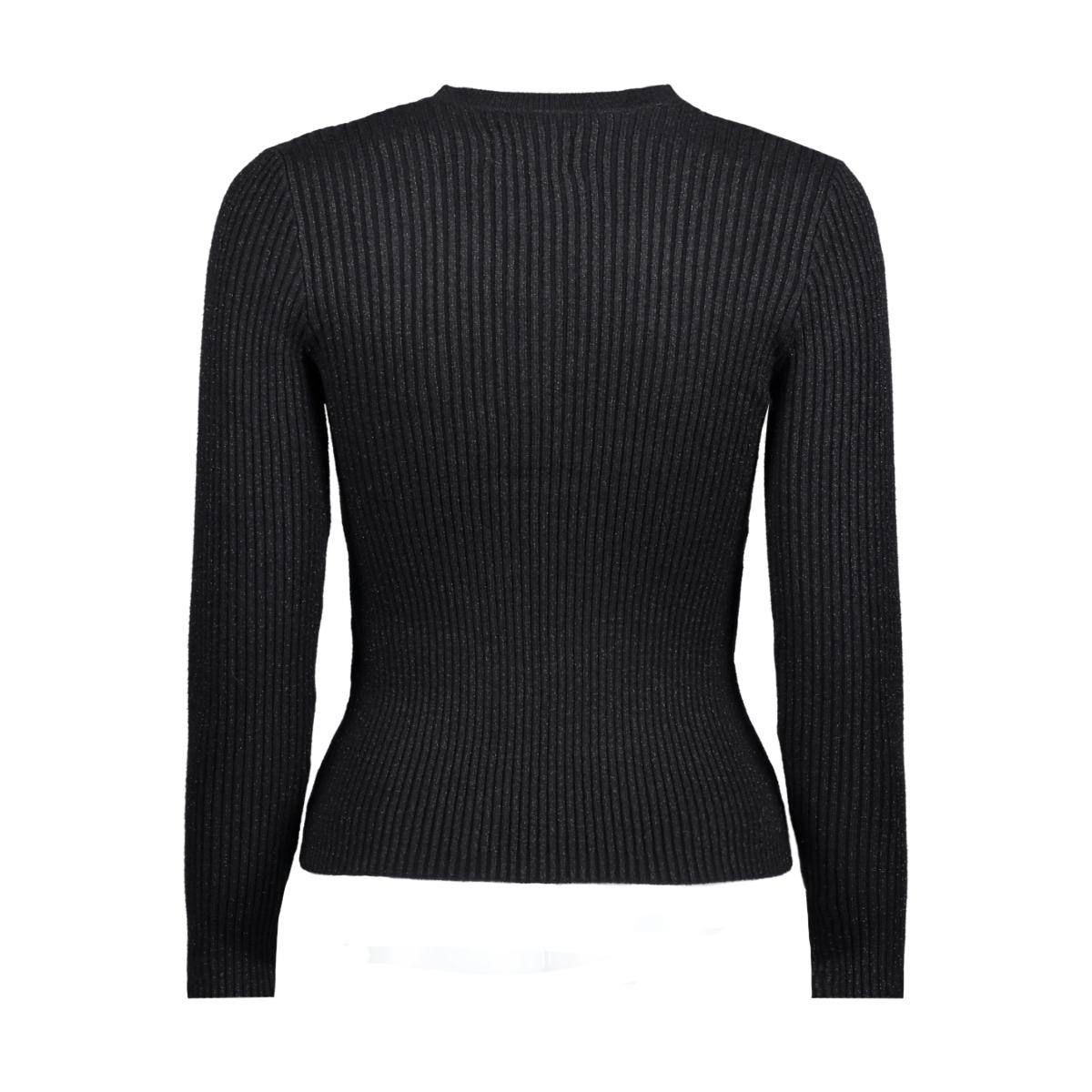 onlchoker l/s pullover knt 15144604 only trui black/w.gunmeta