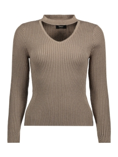 Only Trui onlCHOKER L/S PULLOVER KNT 15144604 Desert Taupe/W.GOLD