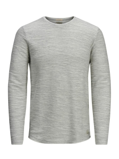Jack & Jones Trui JJVSACRON CREW NECK SWEAT 12130111 White Melange