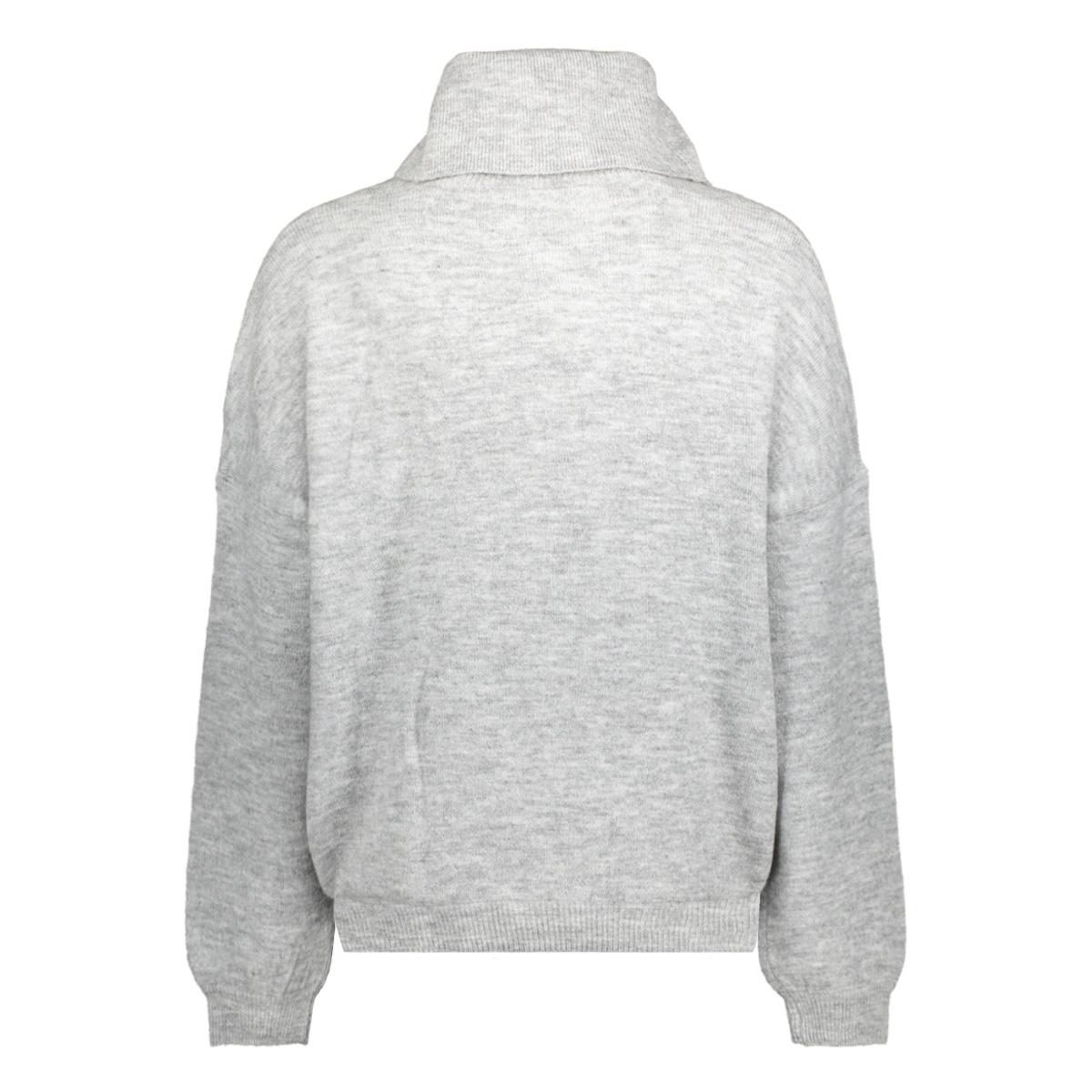 jdyoctavia l/s highneck pullover kn  15138652 jacqueline de yong trui white/melange