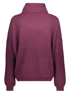 jdyoctavia l/s highneck pullover kn 15138652 jacqueline de yong trui potent purple/melange