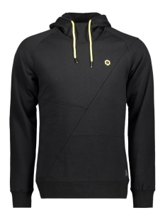Jack & Jones Sweater JCOPINN SWEAT HOOD NOOS 12116490 Black/Reg/Yellow