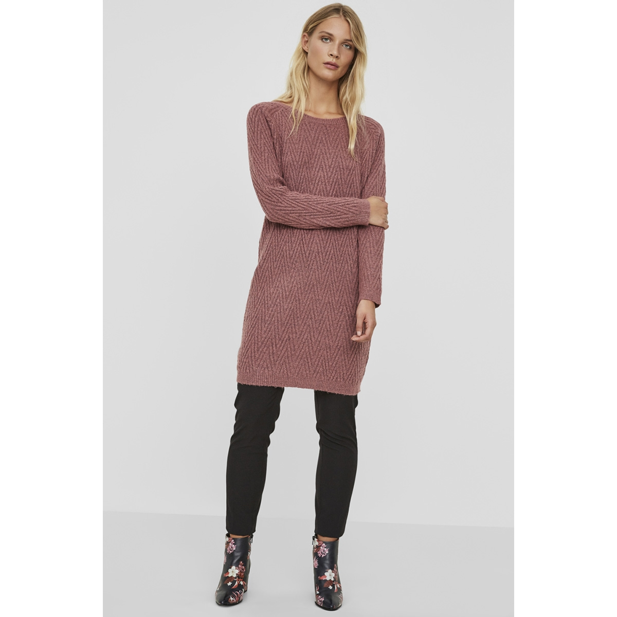 vmposh ls dress noos 10163894 vero moda jurk mesa rose