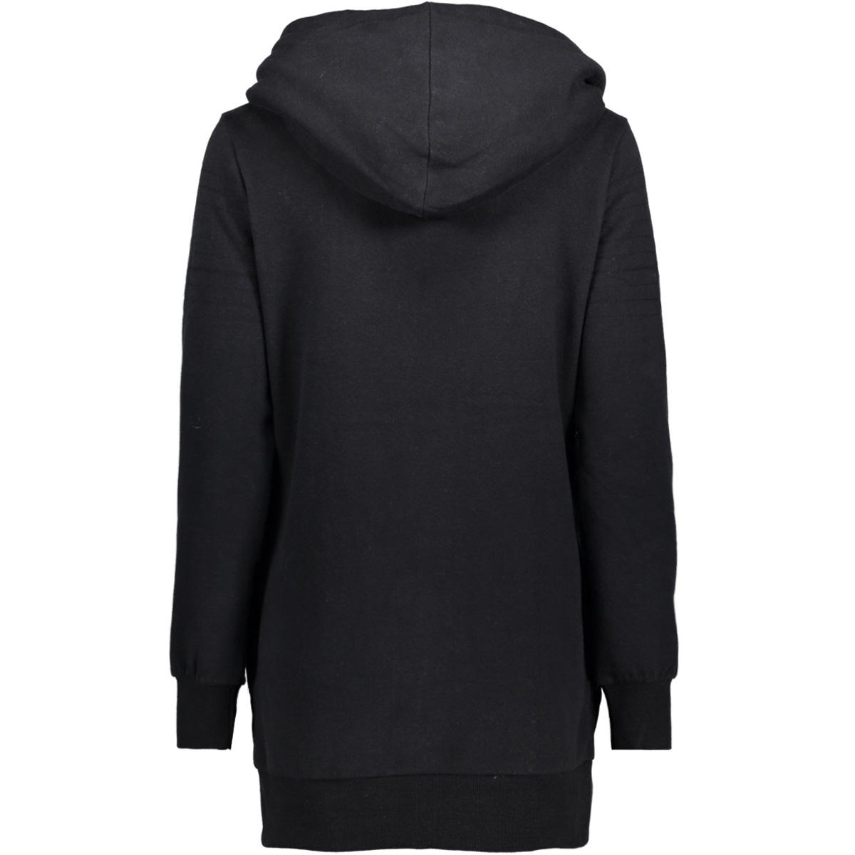 onlvega l/s zip hood swt 15146888 only vest black