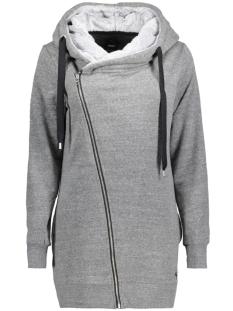 Only Vest onlVEGA L/S ZIP HOOD SWT 15146888 Dark Grey Melange