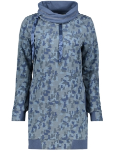 onlcat l/s bette hood swt 15155688 only sweater aegean blue/cat camofl