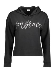 Jacqueline de Yong Sweater JDYSAILOR L/S HOOD PRINT SWEAT SWT 15140946 Black/EMBRACE