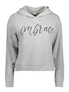 jdysailor l/s hood print sweat swt 15140946 jacqueline de yong sweater light grey mela/embrace