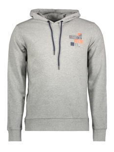 Jack & Jones Sweater JCOBOOSTER SWEAT HOOD 0011 12137596 Light Grey Melange