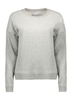onlabsolute regular o-neck cc swt 15145978 only sweater light grey melange