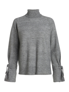 Pieces Trui PCREGITTA LS ROLLNECK KNIT 17085331 Medium Grey Melange
