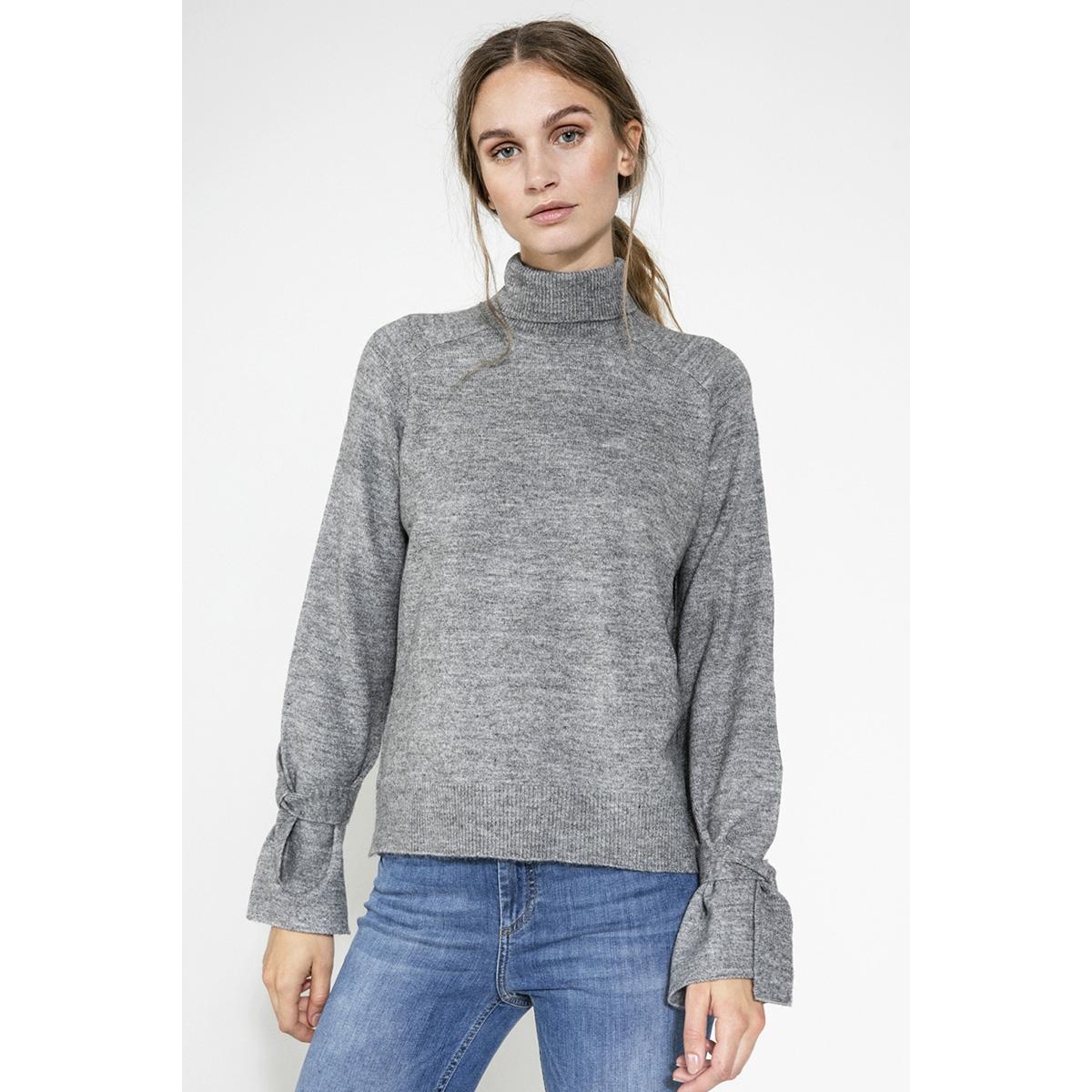 pcregitta ls rollneck knit 17085331 pieces trui medium grey melange