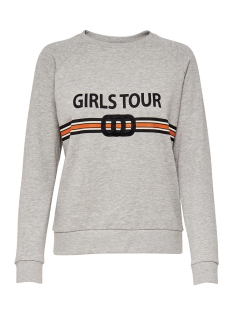 onlgigi l/s sweat 15150270 only sweater light grey melange