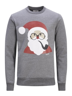 Jack & Jones Sweater JORXMAS SWEAT CREW NECK 12128387 Dark grey melange