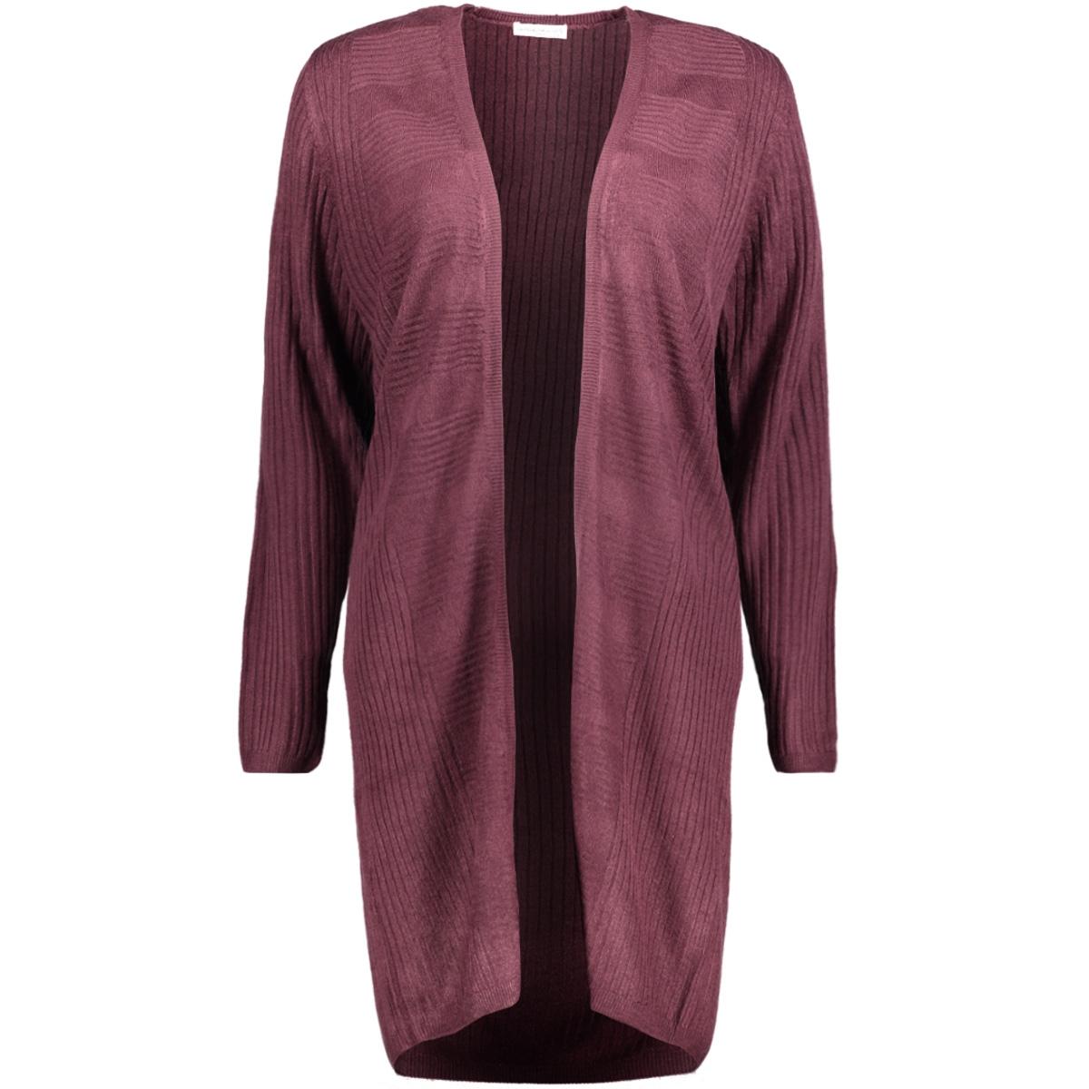 jdycake l/s cardigan knt 15142285 jacqueline de yong vest potent purple