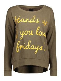 Only Sweater onlHOPE L/S BOATNECK FRIDAY/GAME SWT 15156834 Tarmac/HANDS UP I