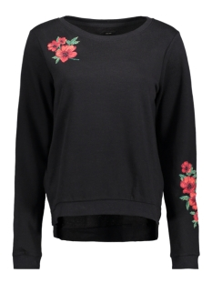 Only Sweater onlSOUND EMBROIDERY L/S ONECK SWT 15140794 Black