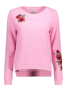 Only Sweater onlSOUND EMBROIDERY L/S ONECK SWT 15140794 Bagonia Pink