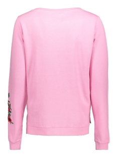 onlsound embroidery l/s oneck swt 15140794 only sweater bagonia pink