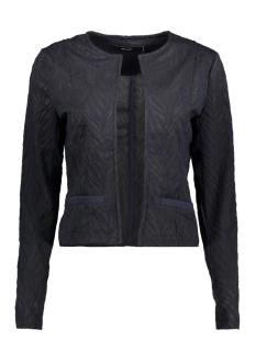 Vero Moda Vest VMNORMA LS SWEAT CARDIGAN JRS 10189950 Night Sky / With Black