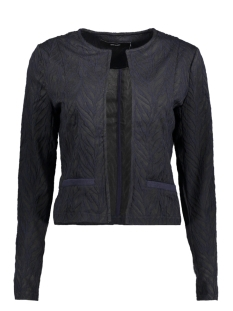 vmnorma ls sweat cardigan jrs 10189950 vero moda vest night sky / with black