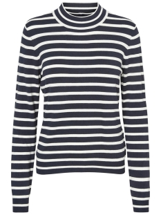 Vero Moda Trui VMGLORY STRIPE LS TURTLENECK NOOS 10167828 Total Eclipse / Snow White
