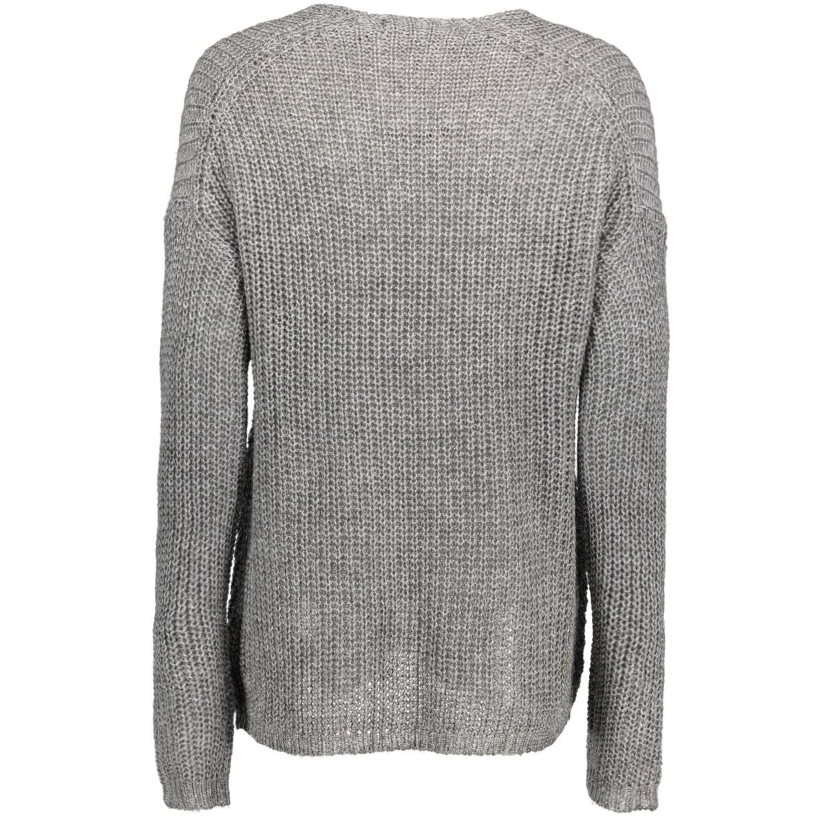 vmescalon ls v-neck blouse 10188906 vero moda trui light grey melange