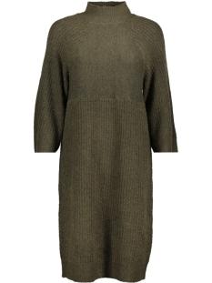 nmpatrice 3/4 high neck knit dress 27000323 noisy may jurk ivy green