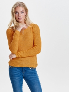 onlgeena xo l/s pullover knt noos 15113356 only trui golden glow