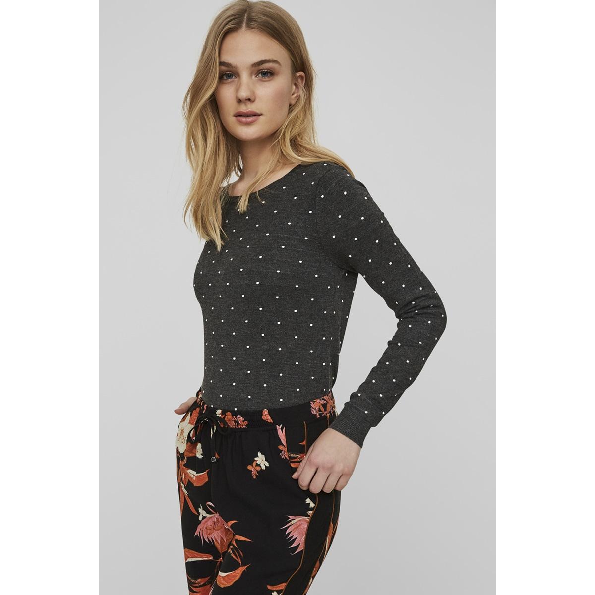 vmglory misa ls blouse a rep 10166740 vero moda trui dark grey melan/snow white